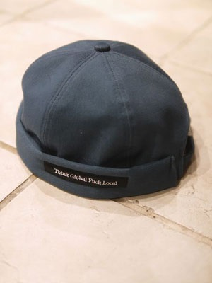 BOOZE CRiB(ブーズクリブ)/ ツバ無し COTTON 6PANEL CAP -NAVY-