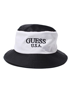 GUESS GREEN LABEL(ゲス グリーンレーベル)/ 2 TONE BUCKET HAT -BLACK-
