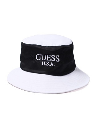 GUESS GREEN LABEL(ゲス グリーンレーベル)/ 2 TONE BUCKET HAT -WHITE-