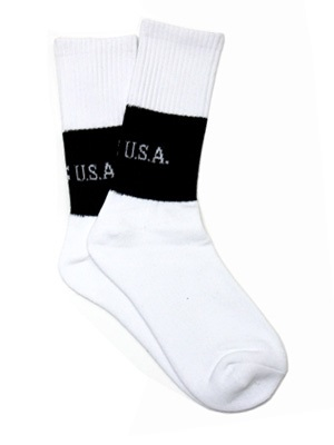 GUESS GREEN LABEL(ゲス グリーンレーベル)/ 2 TONE SOCKS -WHITE-