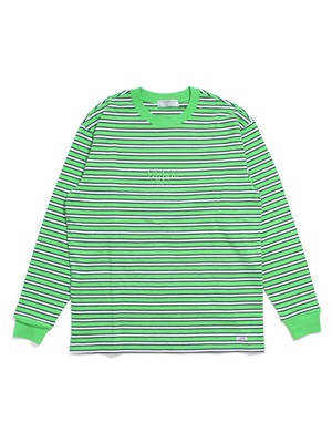 GUESS GREEN LABEL(ゲス グリーンレーベル)/ LIME BORDER LS TEE -LIME-