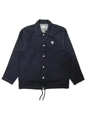 GUESS GREEN LABEL(ゲス グリーンレーベル)/ RIGID DENIM COACH JACKET -INDIGO-