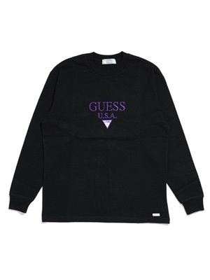 GUESS GREEN LABEL(ゲス グリーンレーベル)/ GUESS USA LS TEE -BLACK-