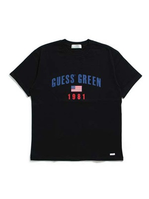 GUESS GREEN LABEL(ゲス グリーンレーベル)/ GUESS GREEN 1981 TEE -BLACK-