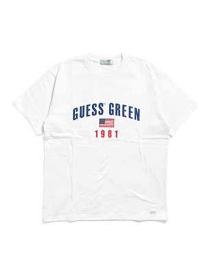 GUESS GREEN LABEL(ゲス グリーンレーベル)/ GUESS GREEN 1981 TEE -WHITE-