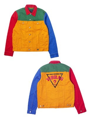 GUESS(ゲス)/ × J Balvin COLOR BLOCK DENIM JACKET -MULTI-