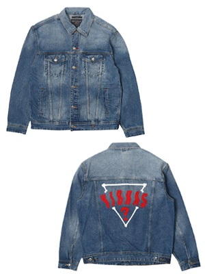 GUESS(ゲス)/ × J Balvin OVERSIZED DENIM JACKET -W.INDIGO-