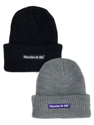 40s&Shorties(フォーティスアンドショーティース)/ REVERSIBLE TEXT LOGO BEANIE -2.COLOR-