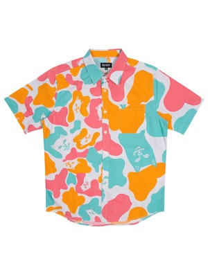 RIPNDIP(リッピンディップ)/ OVERSIZE CAMO BUTTON UP -MULTI-