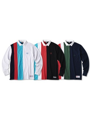 FTC(エフティーシー)/ COLOR BLOCKED RUGBY SHIRT -3.COLOR-