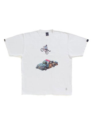 "430(フォーサーティー)/ ×APPLEBUM ""JUMP MAN"" T-SHIRTS -WHITE-"