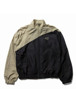 430(フォーサーティー)/ ATHLETIC TRACK JACKET -BLACK/BEIGE-