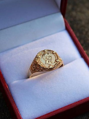 GOLD TASTE(ゴールド テイスト)/ MEXICAN COIN RING -GOLD-