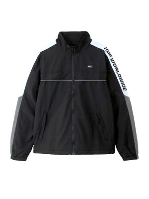 HUF(ハフ)/ LEWIS TRACK JACKET -BLACK-