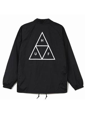 HUF(ハフ)/ ESSENTIALS COACHES JACKET -BLACK-