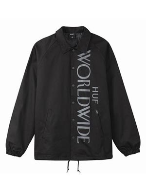 HUF(ハフ)/ HEADLINES COACHES JACKET -BLACK-