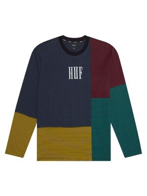 HUF(ハフ)/ VILMOS STRIPE LS KNIT -BLUE-
