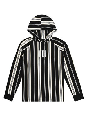 HUF(ハフ)/ BUREN STRIPED PO KNIT -BLACK-
