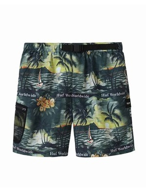 HUF(ハフ)/ VENICE EASY SHORT -BLACK-
