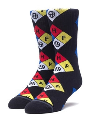 HUF(ハフ)/ HAZARD SOCK -BLACK-