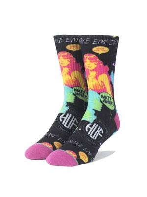 HUF(ハフ)/ COMIC SOCK -BLACK-
