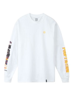 HUF(ハフ)/ COLLAGE LS TEE -WHITE-