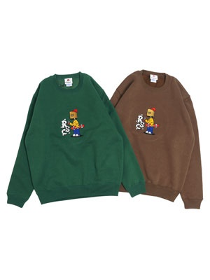 ROUGH SKETCH CLOTHING(ラフスケッチクロージング)/ PB Man Crewneck  Sweat -2.COLOR-