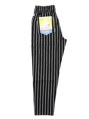 COOKMAN(クックマン)/ CHEF PANTS STRIPE -BLACK-