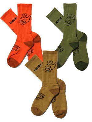 HAIGHT(ヘイト)/ SKULL PIPE SKATER SOX ft RAT HOLE STUDIO -3.COLOR-