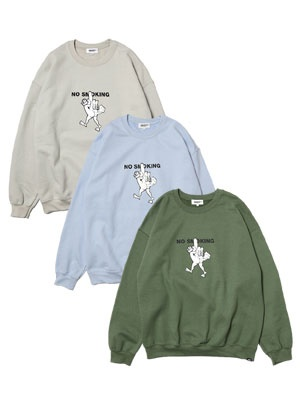 HAIGHT(ヘイト)/ I'M A SMOKER CREWNECK SWEAT ft RAT HOLE STUDIO -3.COLOR-