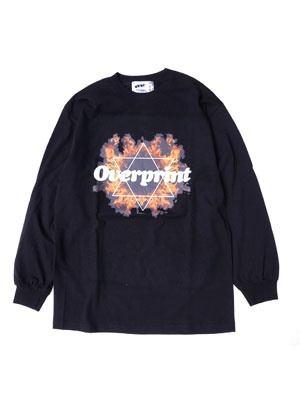 OVER PRINT(オーバープリント)/ INFERNO LS TEE -BLACK-