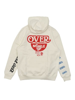 OVER PRINT(オーバープリント)/ NOODLE HOODIE -WHITE-