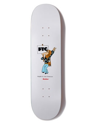 FTC(エフティーシー)/ × BUTTER GOODS HIPPIE DECK -WHITE- -8.25inch-