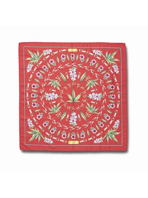HUF(ハフ)/ BOTANICAL GARDEN BANDANA -RED-