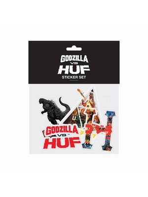 HUF(ハフ)/ GODZILLA VS HUF STICKER PACK