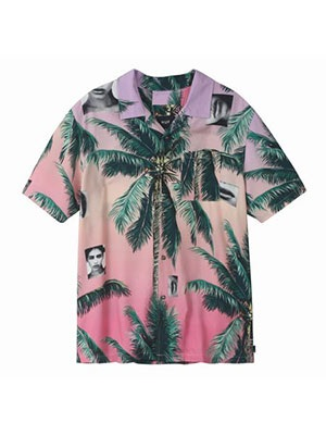 HUF(ハフ)/ MOLLY RESORT SS SHIRT -PINK-