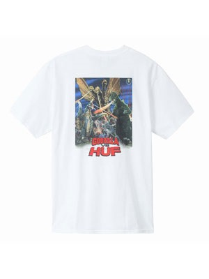 HUF(ハフ)/ DESTROY ALL MONSTER SS TEE -WHITE-