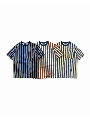 Lafayette(ラファイエット)/ MULTI COLOR PAISLEY STRIPED POCKET TEE -3.COLOR-