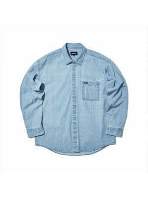 WKNDRS(ウィーケンダーズ) / OVERSIZED LS DENIM SHIRT -DENIM-