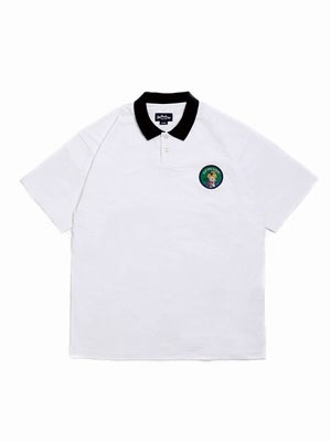 FLIP THE SCRIPT(フリップザスクリプト)/ WAPPEN POLO SHIRT -WHITE-