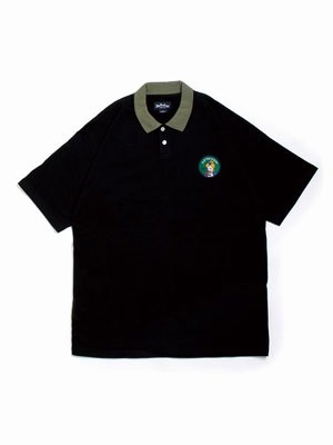 FLIP THE SCRIPT(フリップザスクリプト)/ WAPPEN POLO SHIRT -BLACK-