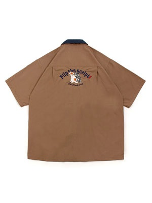 FLIP THE SCRIPT(フリップザスクリプト)/ D.L.B. SS SHIRT -BROWN-
