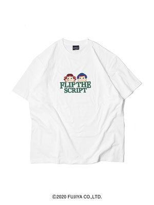 FLIP THE SCRIPT(フリップザスクリプト)/ PEKO & POKO GREEDY T-SHIRT -WHITE-