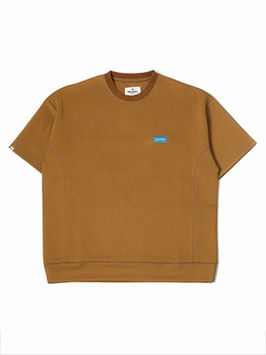 MONTLEY(モーレー)/ Stream STITCH JERSEY TEE -BROWN-