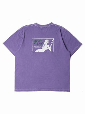 MONTLEY(モーレー)/ Private DYE SS TEE -PURPLE-