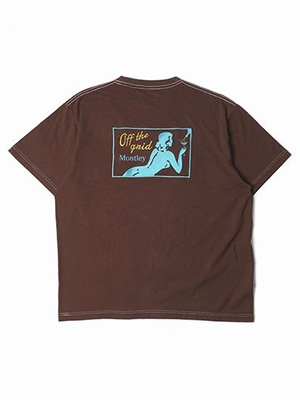 MONTLEY(モーレー)/ Private DYE SS TEE -BROWN-