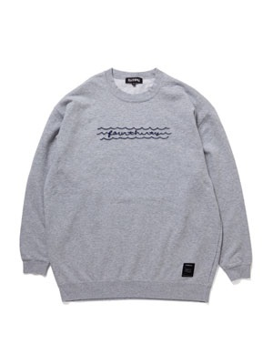 430(フォーサーティー)/ WAVE CN SWEAT -GREY-