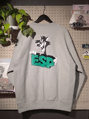 E.S.P.(イーエスピー)/ E.S.P. LIMITED CREW SWEAT -GREY-